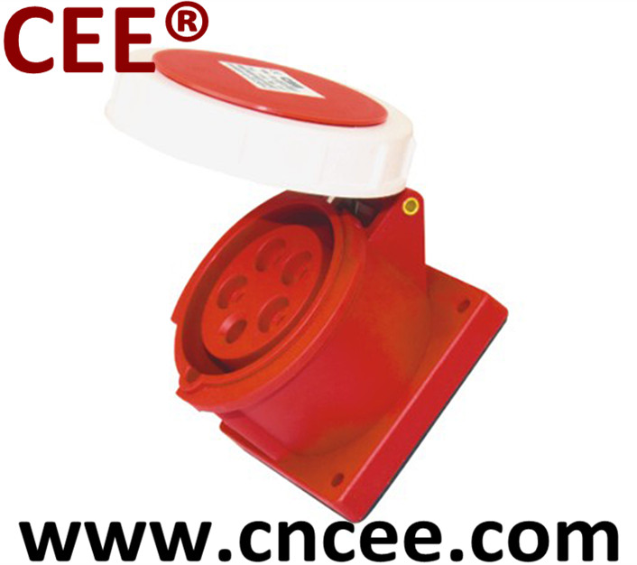 CEE Industrial Socket panel mounted straight
