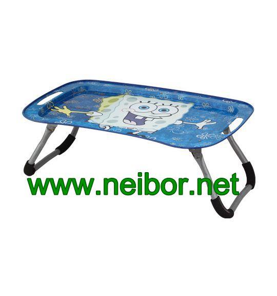 metal tin tray table,tin tray with foldable feet,laptop table