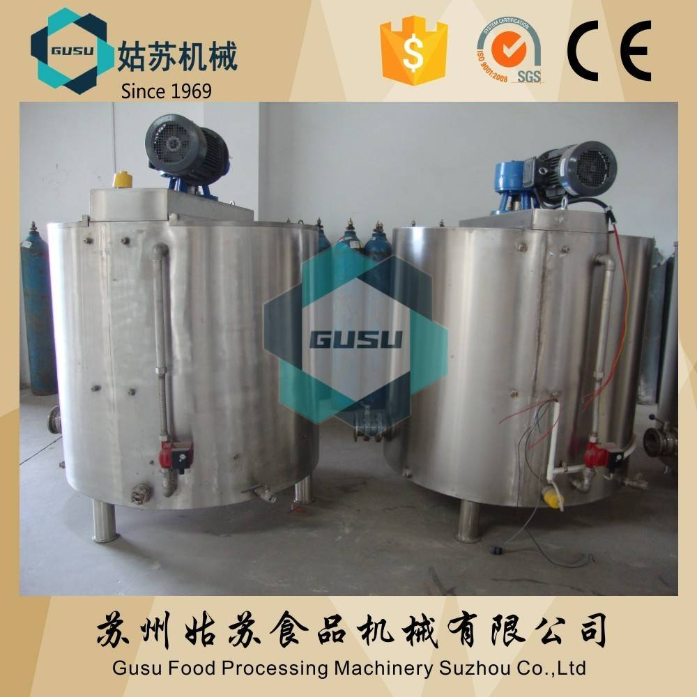 Gusu chocolate producing machines storage tank for holding and keep temperature
