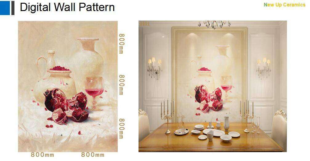 Digital injket printing wall decoration pattern porcelain wall tiles