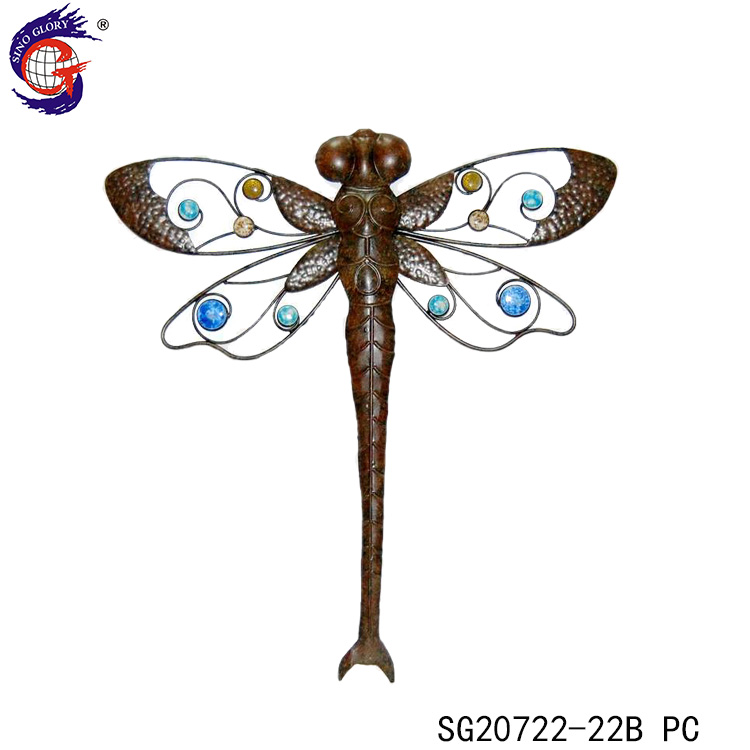 Custom Metal Dragonfly Wall Hanging Home Decoration
