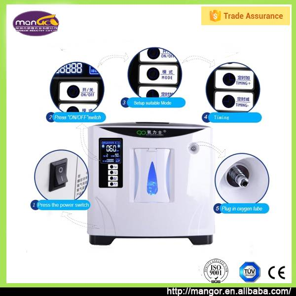 With 2 Years Warranty 6L Flow 110W PSA Mini Medical Oxygen Concentrator Portable Price