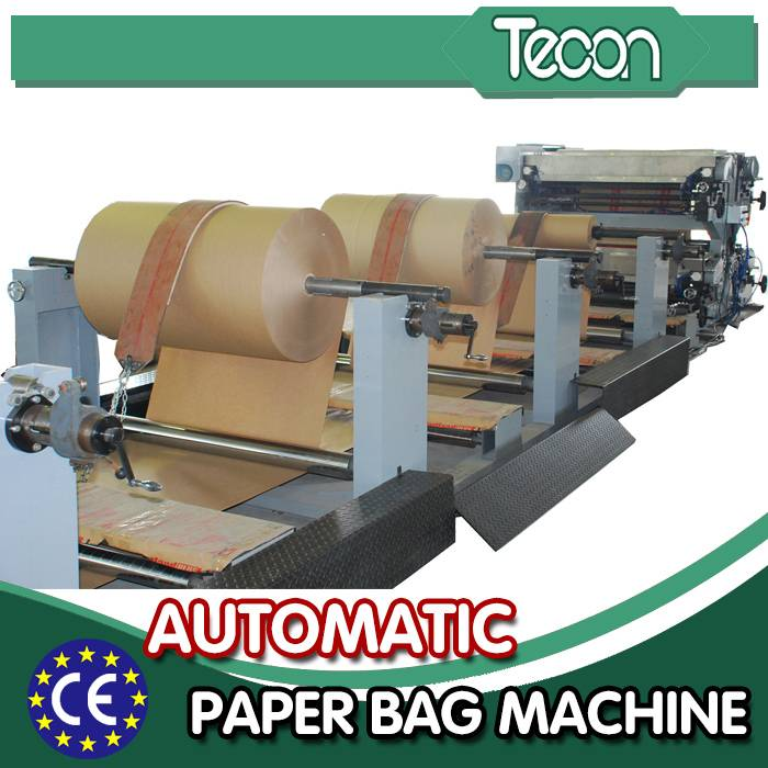 High Speed and Full Automatic Paper Bag Making Machine