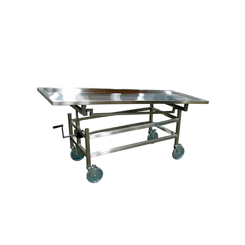 Adjustable Stainless Steel Corpse Cart with Casters