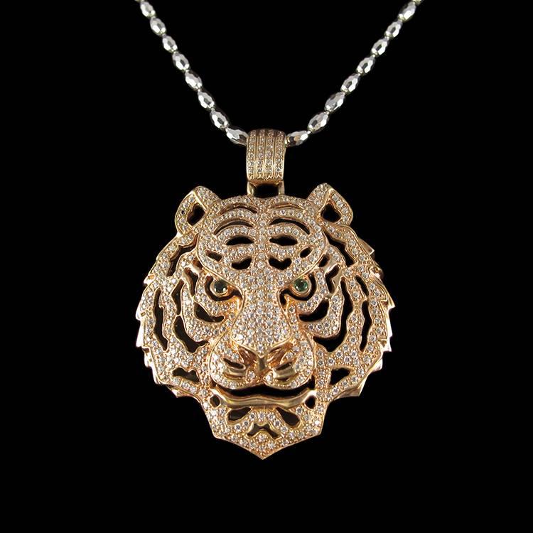 Silver Tiger Pendant