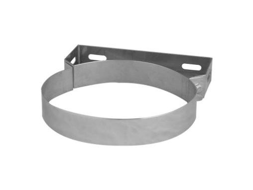 chimney wall mounting bracket clamp