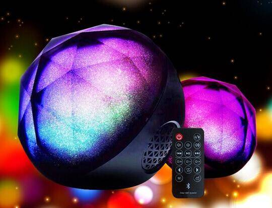 Dazzle colour LED wireless bluetooth speakers card mini portable Color Ball Speaker