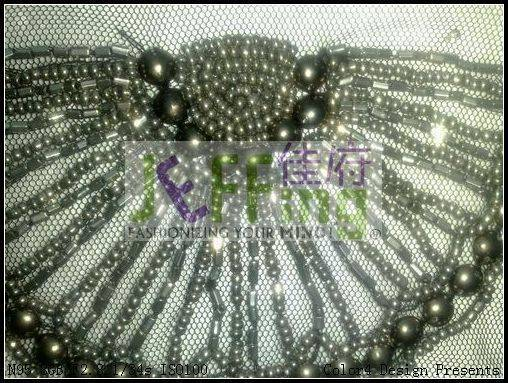 hand-made bead patch,appliqué,sequin patch,neckline bead patch,shoulder bead patch
