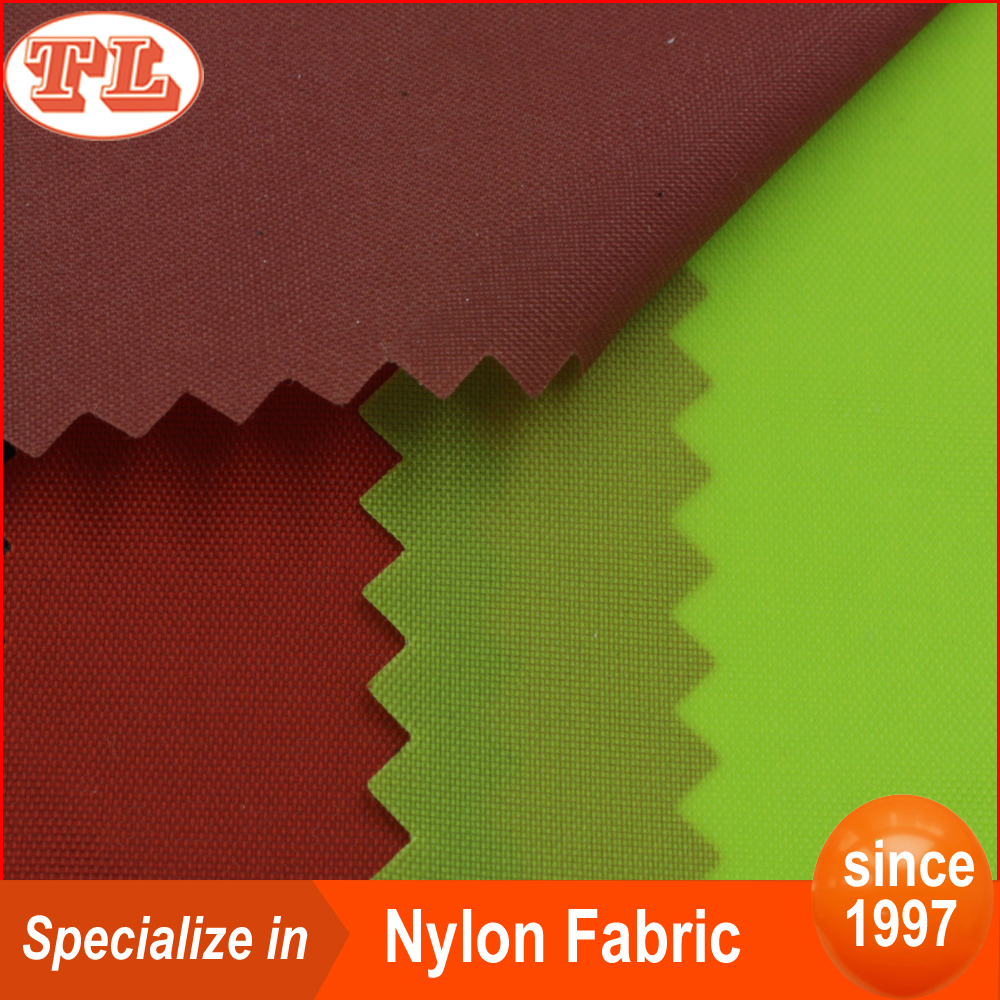 Waterproof breathable 70D 190T nylon taffeta fabric with pu coated for lining