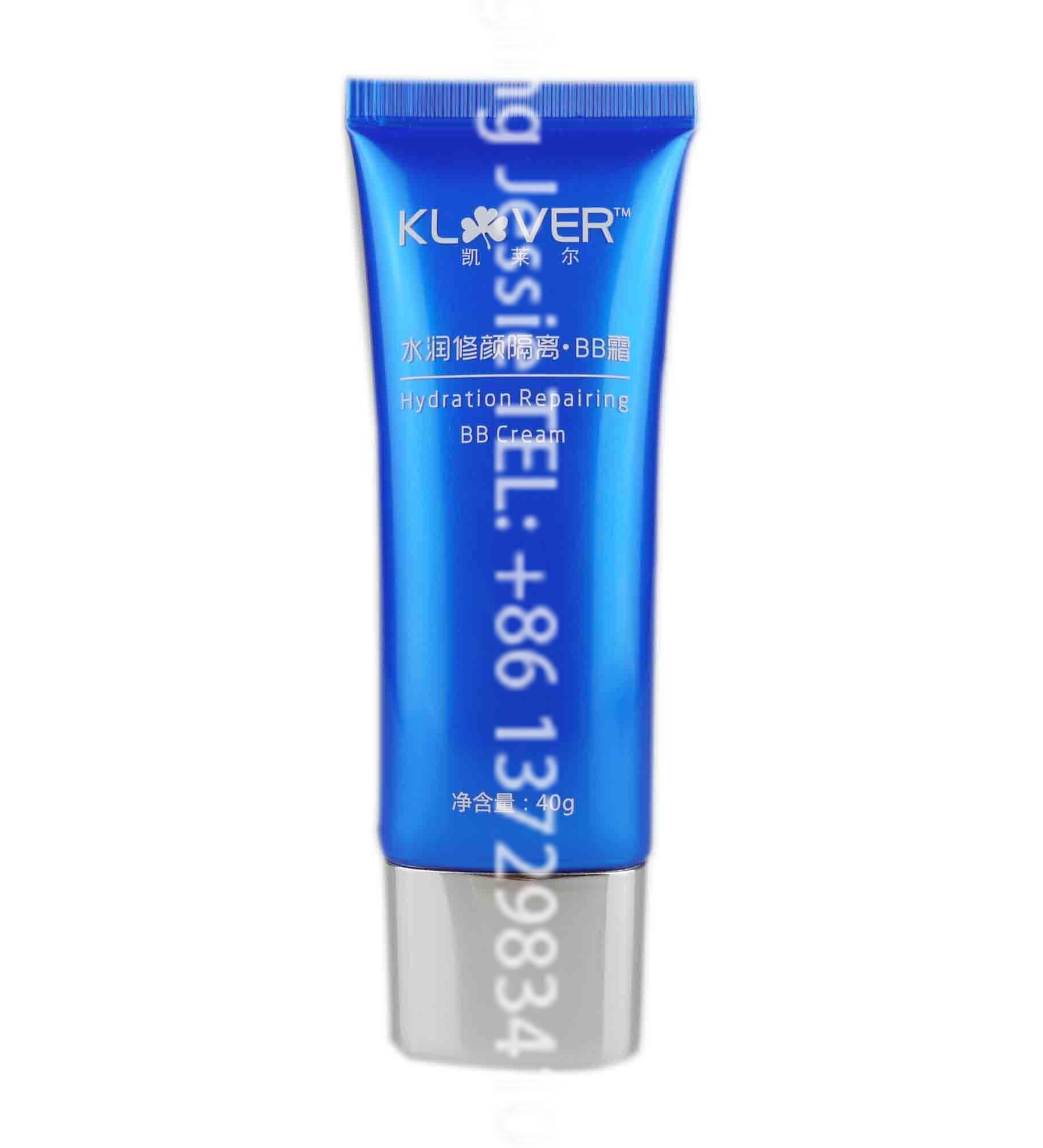 40g cosmetic super flat plastic tube for CC cream with flat cap