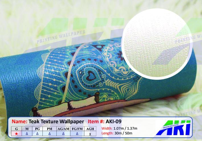 AKI 009 Teak Texture Import Digital Printable PVC Wallpaper