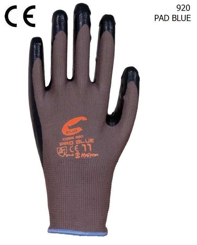 nylon knit liner nitrile safety glove