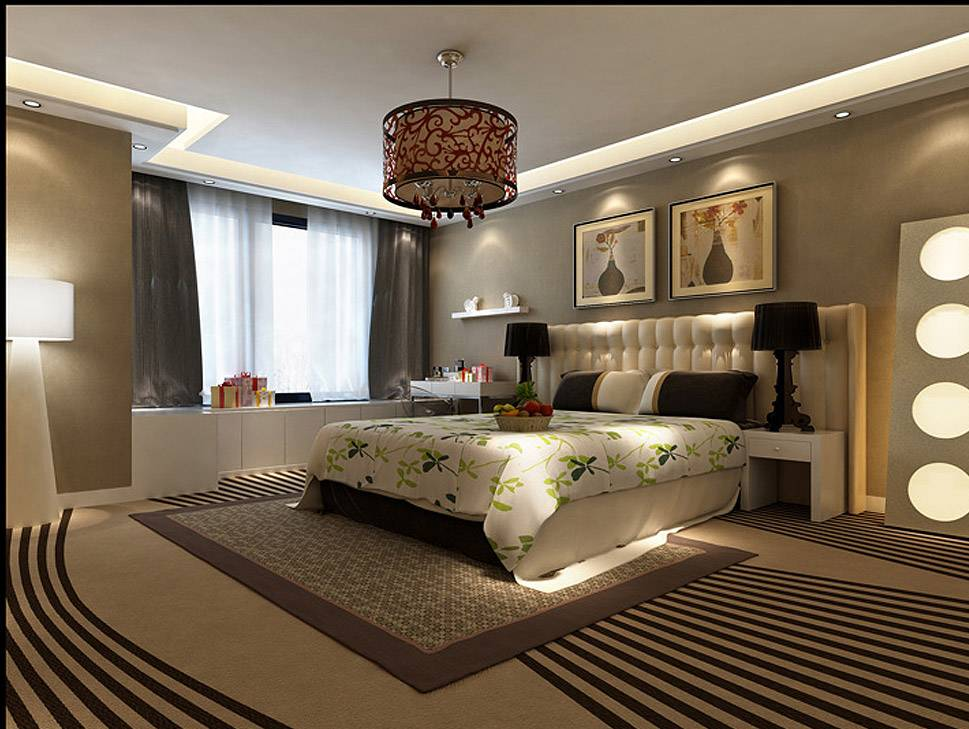 3D Interior Visualization--Master Bedroom