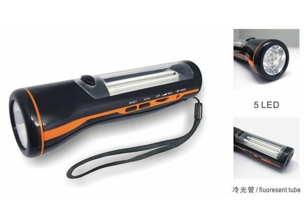 FL-285B USB Powered Flashlight Torch with radio/fluorescent tube