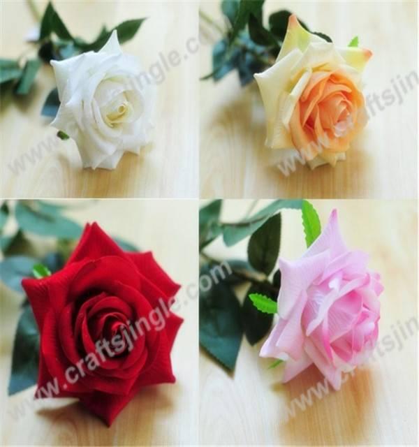 Elegant single rose spray artificial flower for decoration