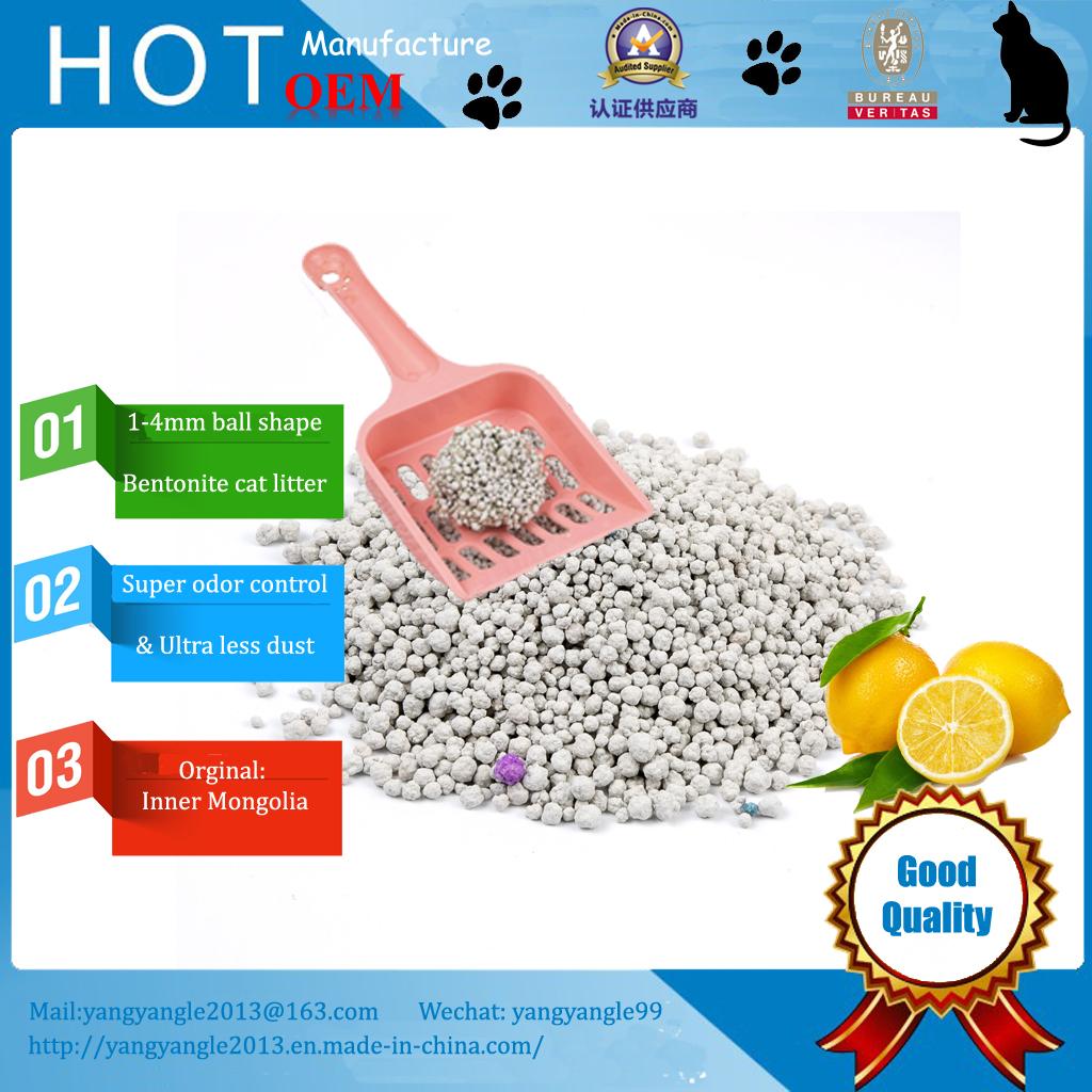 hot sell lemon scent bentonite cat litter