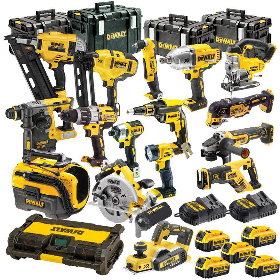 DeWalt 20-v Max Lithium Ion Cordless ComboS Kits(15-Tool)Extra Charger & Tool