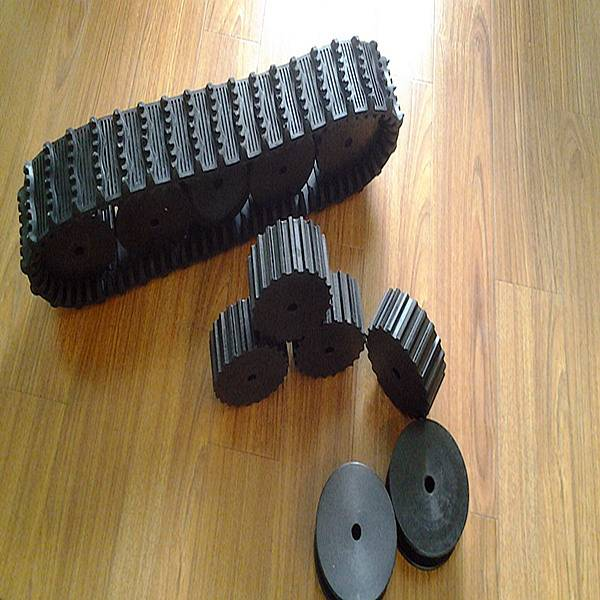 Mini Robot Rubber Track with Driving/Supporting Wheels (1002076)