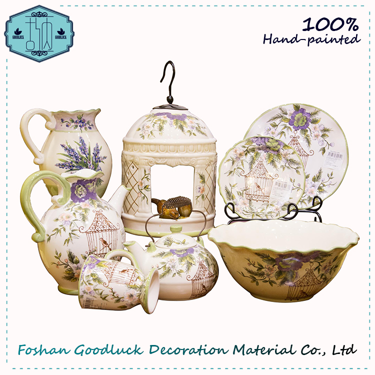 Grace Birdcage Pattern Saudi Arabia Market Living Art Luxury Dinner Set