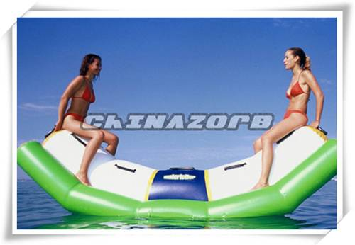 Fun water play games inflatable water seesaw