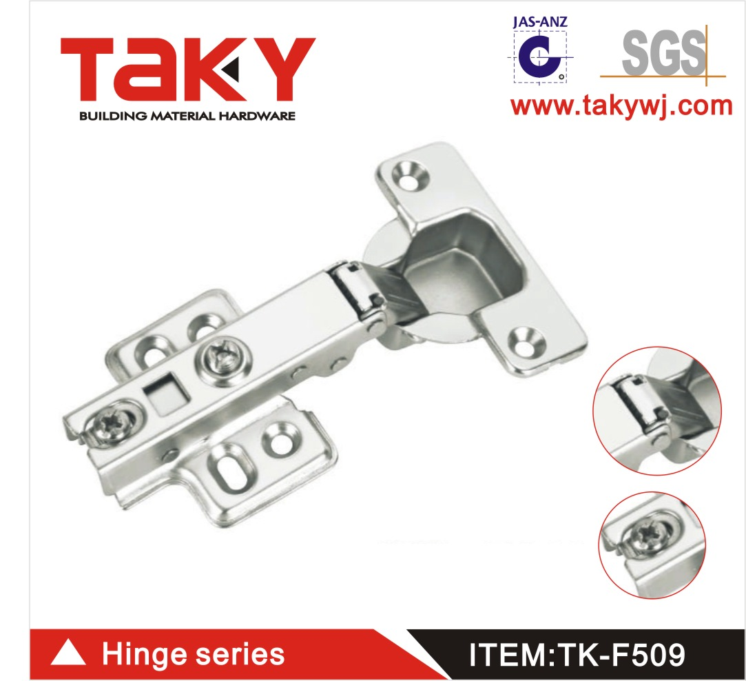 TK-F509 furniture cabinet soft closing steel hinge