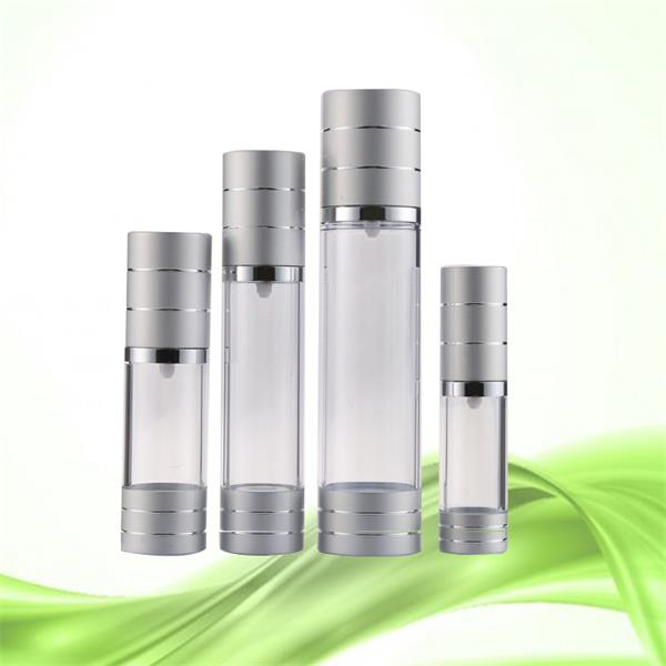 customized 15ml 30ml 50ml stock aluminum plastic airless pump bottles for sale from china