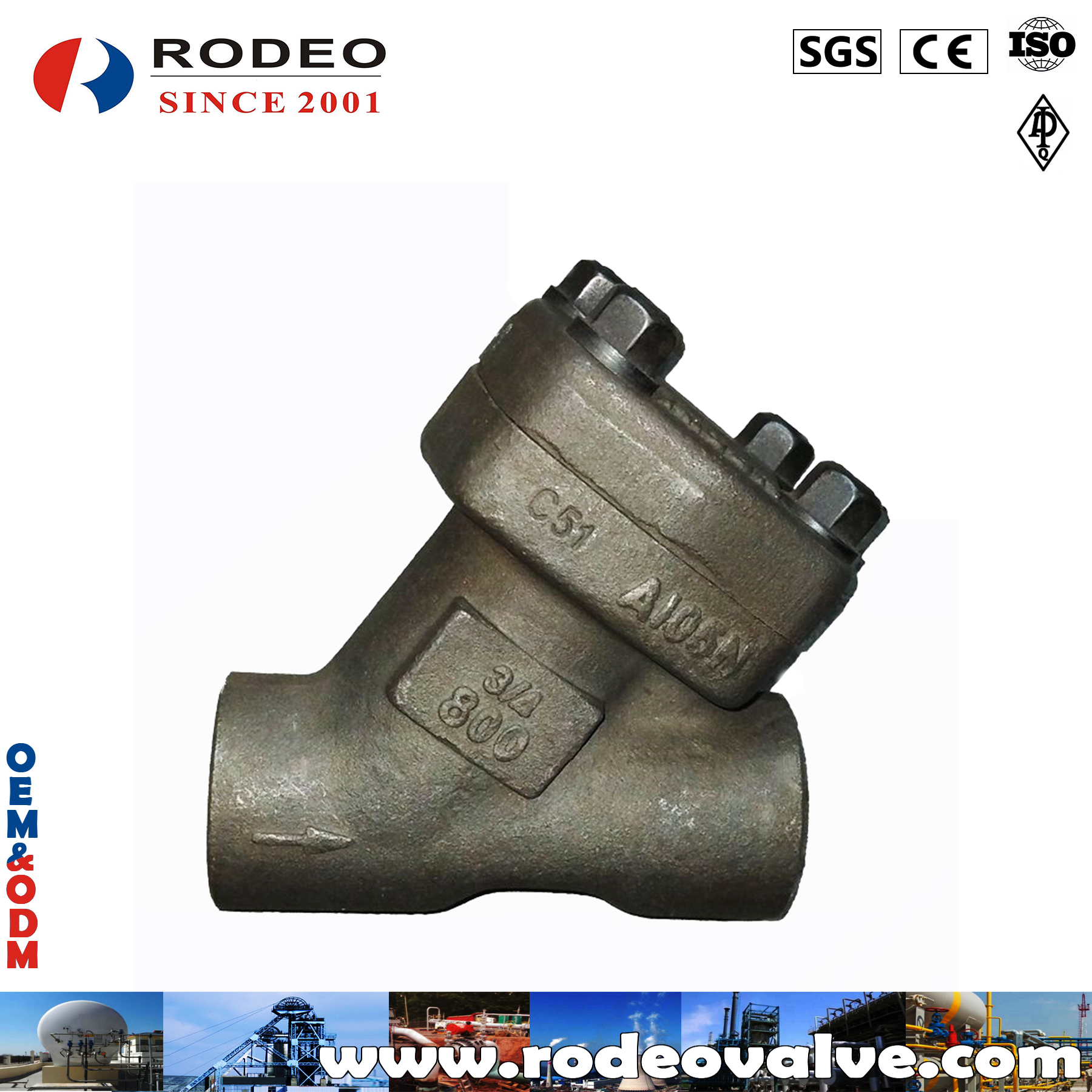 ASME Y Type Forged Steel Check Valve