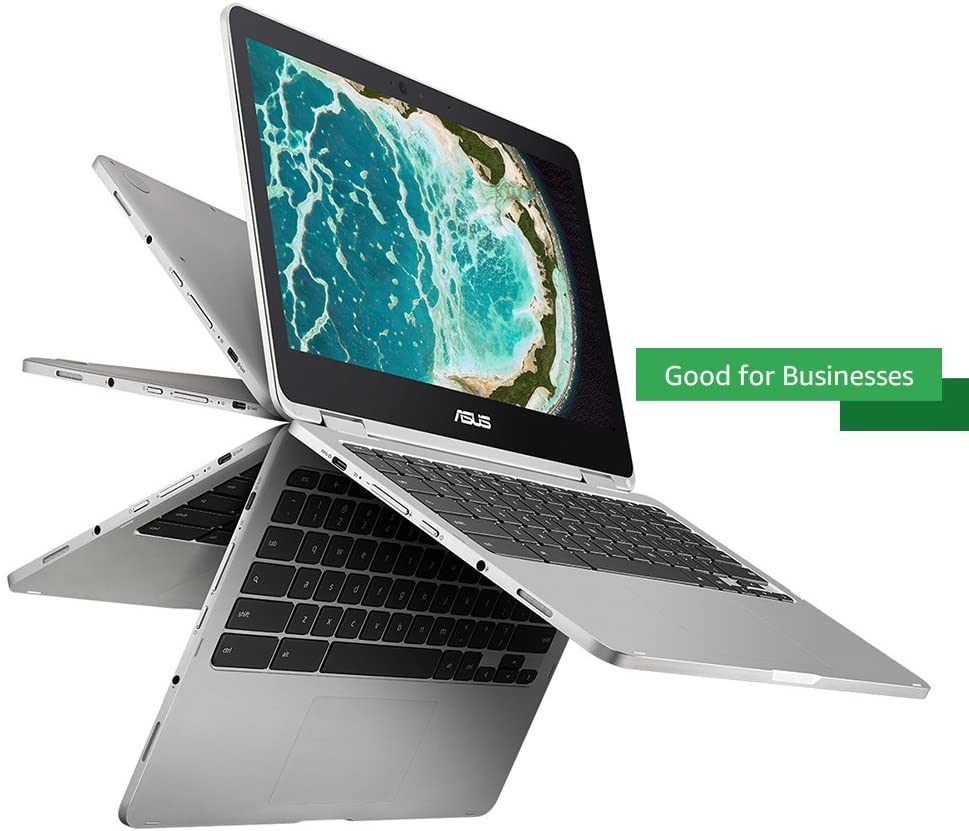 "ASUS Chromebook Flip C302 2-In-1 Laptop- 12.5"" Full HD 4-Way NanoEdge Touchscreen, Intel Core M5, 4G"