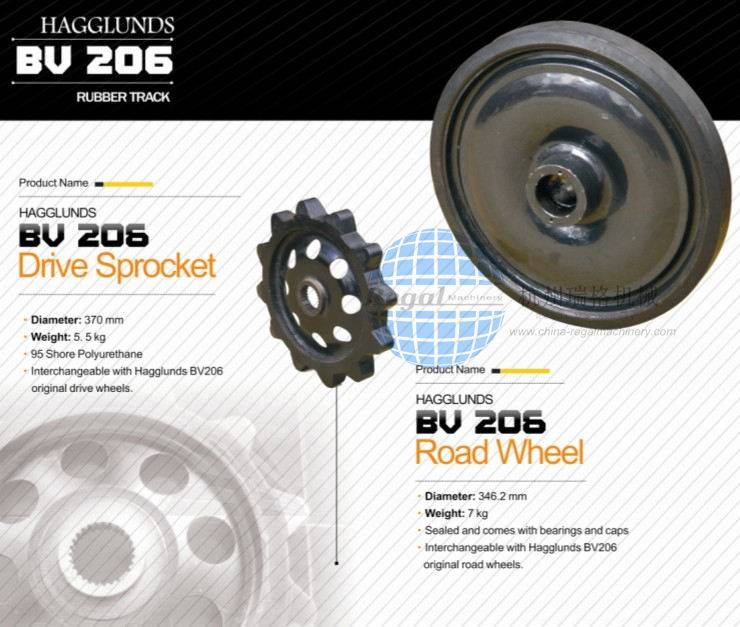 Rubber Tracks BV206 WHEEL/Sprocket