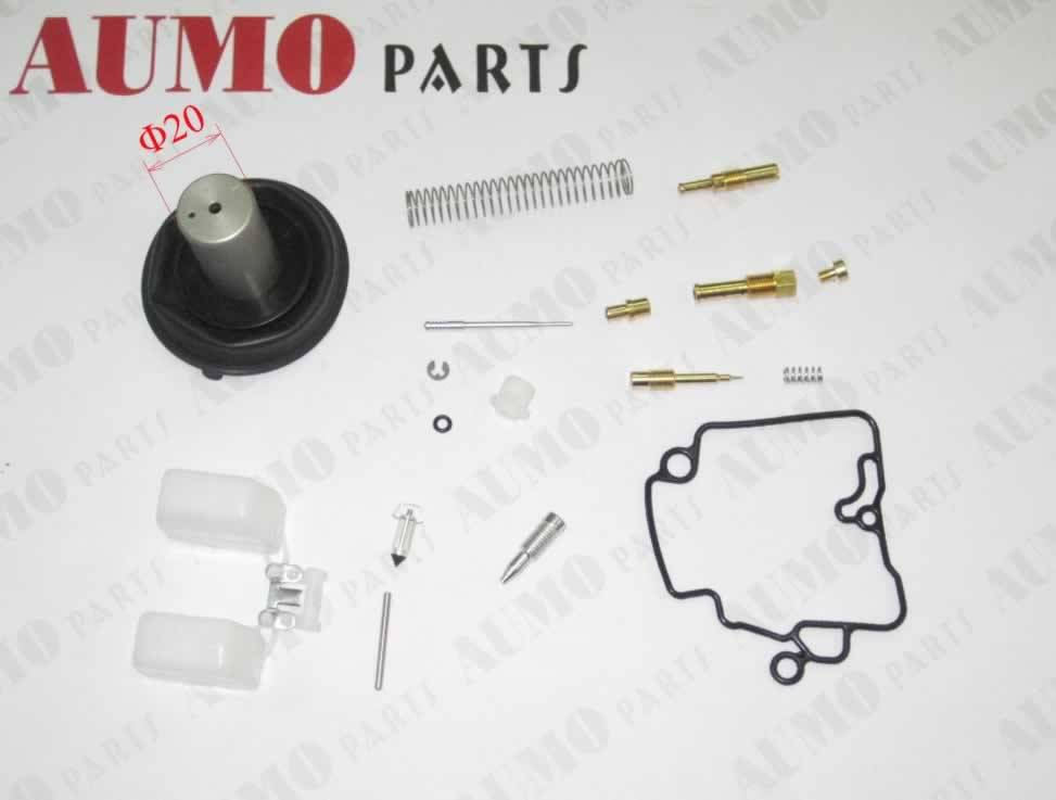 Carburetor Repair Kit, 20mm Vacuum Piston, GY6 50cc (ME14000I-001C)
