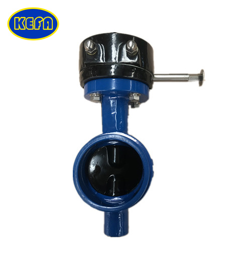 Grooved end resilient seat butterfly valve
