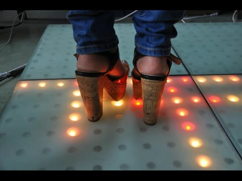 LED Mutual sensor video high pixel viewing dance floor