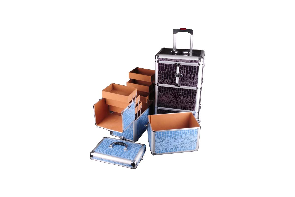 Detachable Trolley Beauty Case with Removable Compartments
