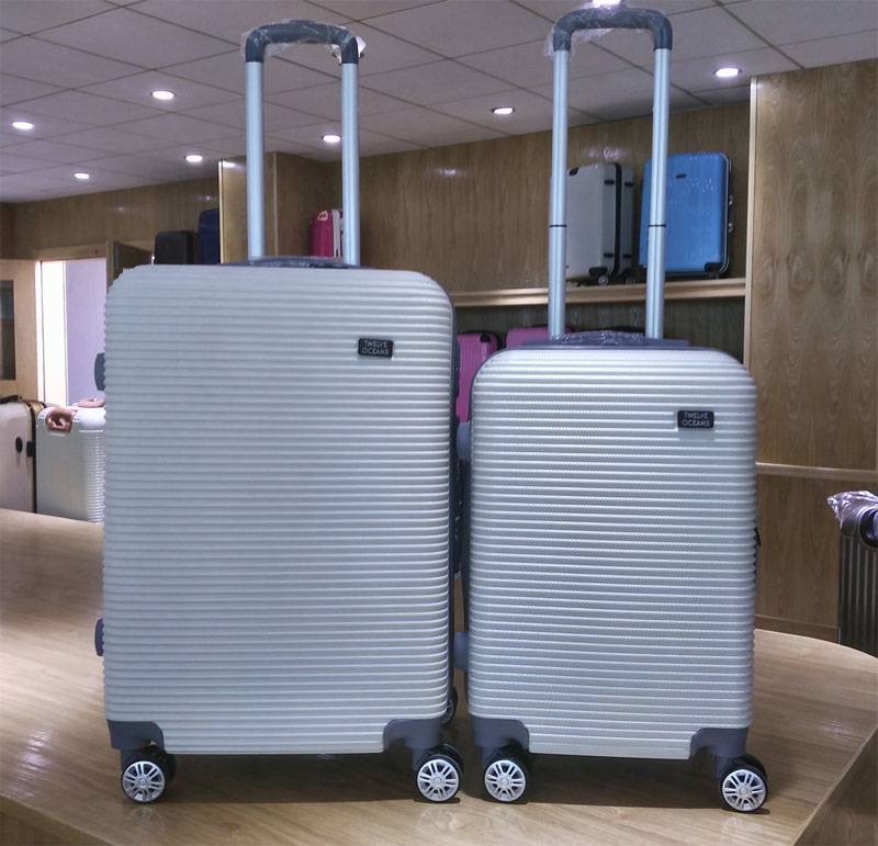 NO:ABS-005 Vertical stripe universal wheel travel box Luggage Trolley Bags