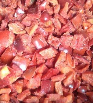 frozen foods frozen vegetables frozen red pepper cubes supply from China
