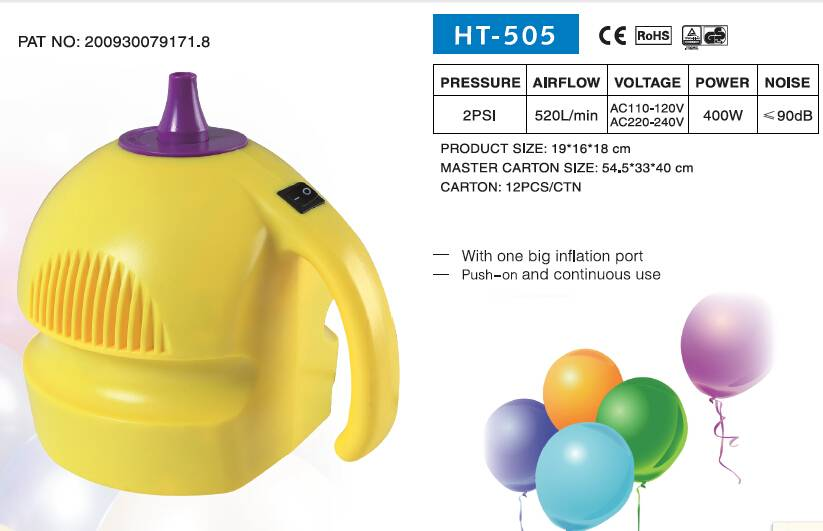 HT-505, ELECTRIC BALLOON PUMP