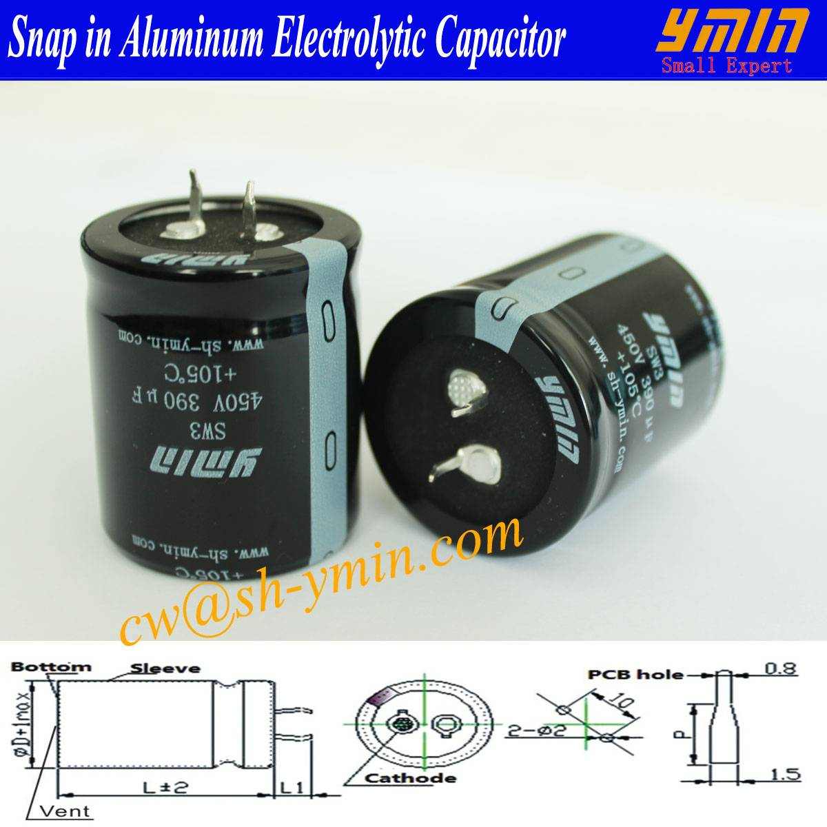 Low DF Capacitor Snap in Electrolytic Capacitor Industiral Electrolytic Capacitor
