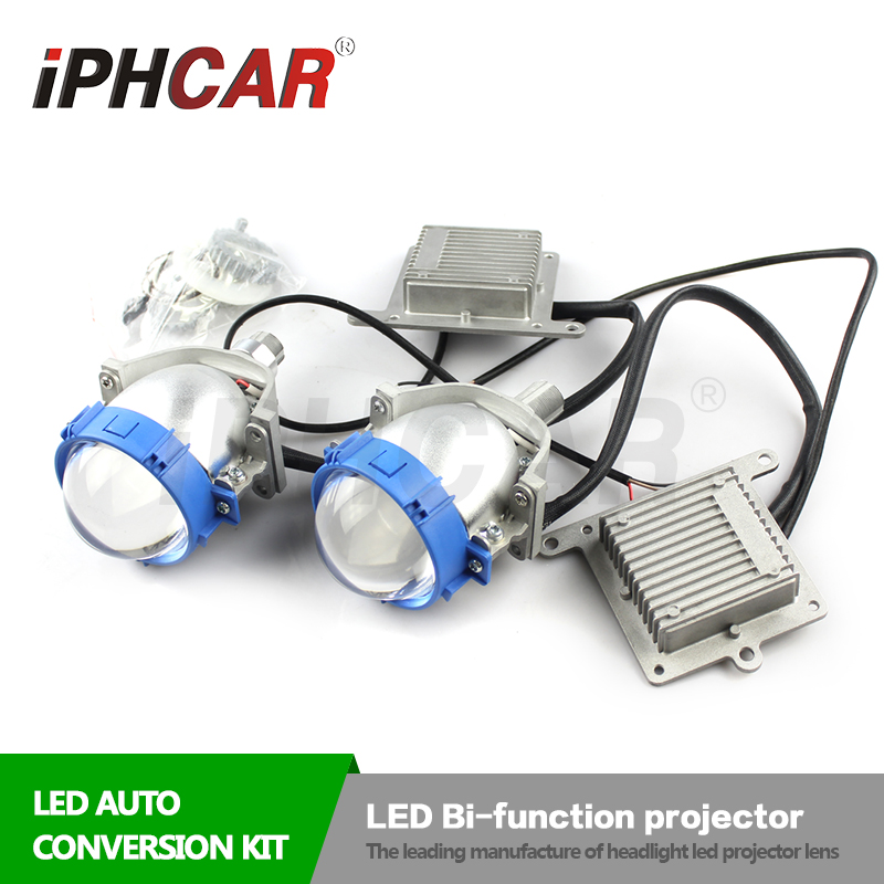IPHCAR 9-16V 35W High Low Beam Bi xenon Lens Car Led Headlight Conversion Kit