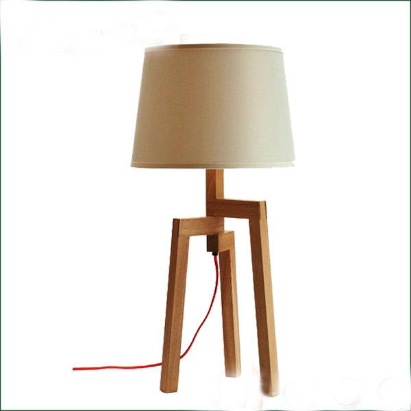 ash wood E27 table reading lamp for home