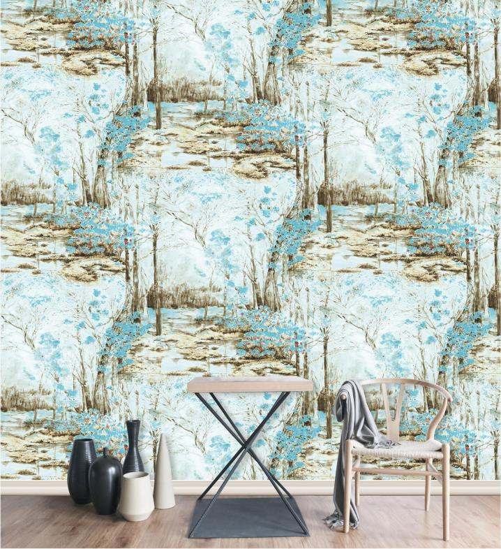 Printing Water Ink Wallpaper 3d Wall Papers Home Decor PVC Wallpaper