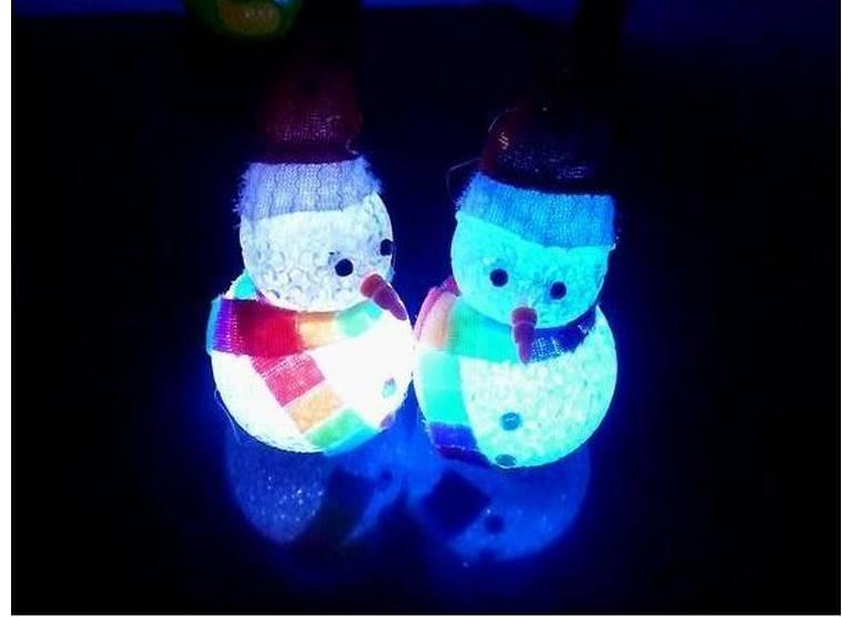christmas toy LED snowman decoration luminous christmas crystal