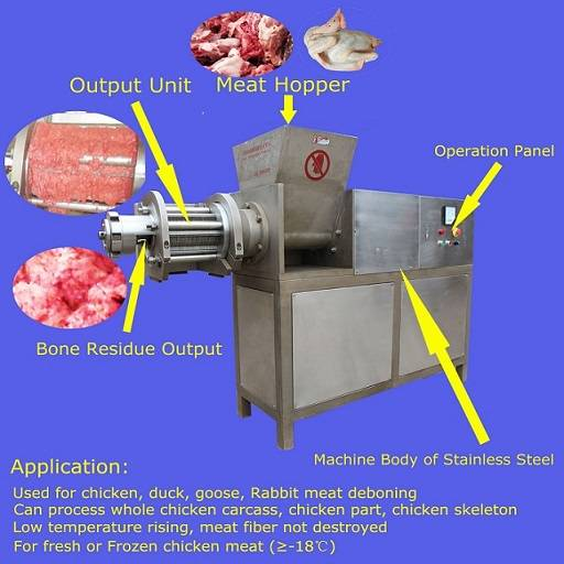 Chicken MDM meat deboning machine TLY3000 with CE certificate