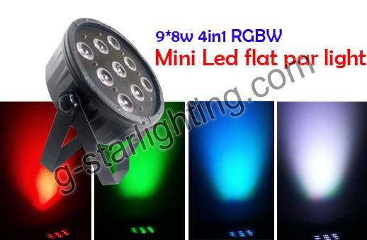 910W 4in1 RGBW Mini Led Flat Par Light
