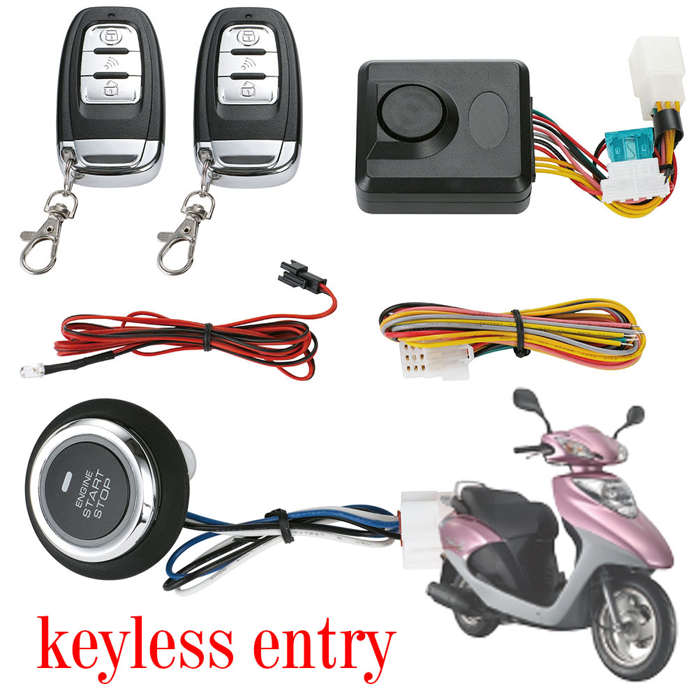 Pke Push Button Start Motorcycle Alarm Thor Security Science