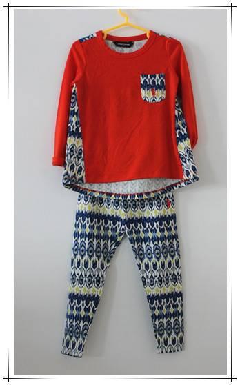 2016 latest 100% cotton kids clothing sets