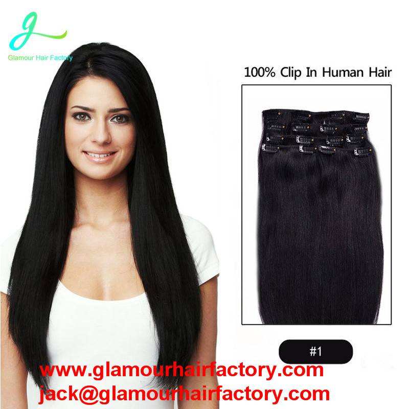 Remy Clip In Brazilian Hair Extensions #6 Clip In Human Hair Extensions