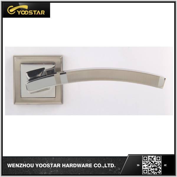 Wenzou hot sale aluminum door handle with rose