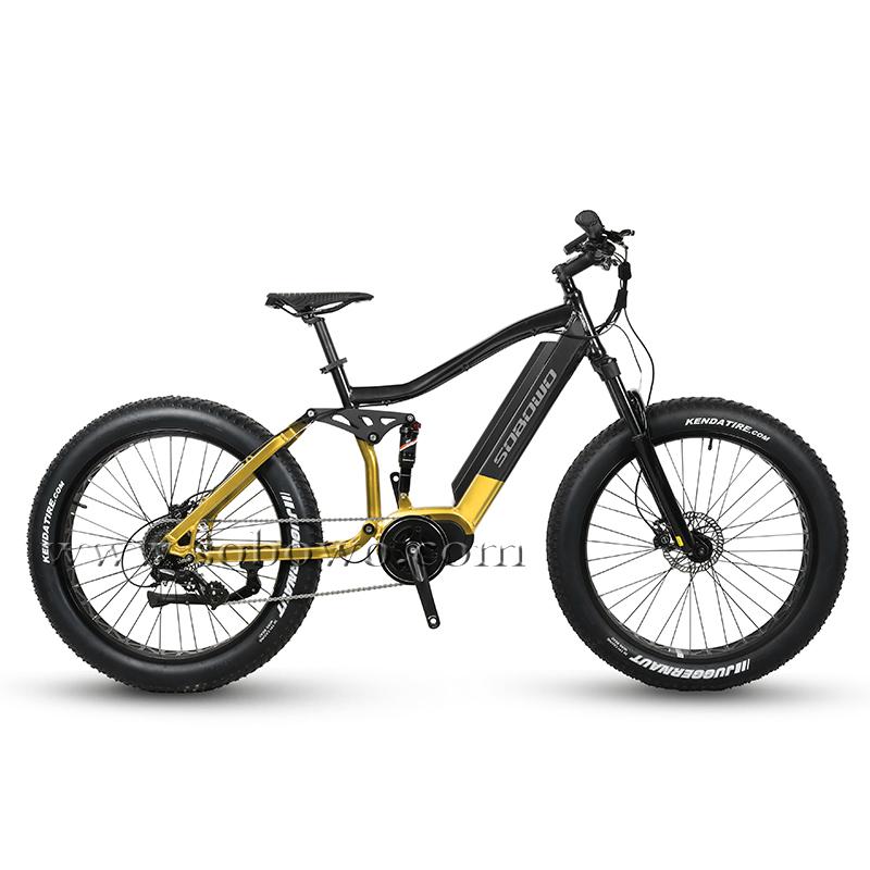 26'' Full Suspension Bafang Mid Drive Max Motor Best Electric Fat Bike