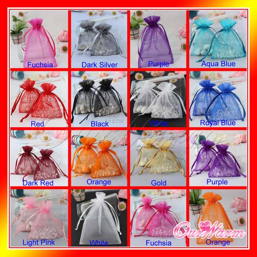 "Strong Sheer Organza Pouch 4x6"" 10x15cm Wedding Favor Jewelry Gift Candy Bags"