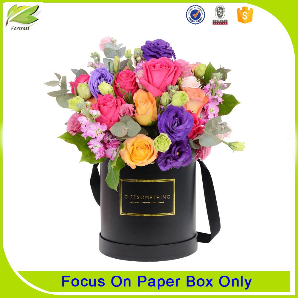 Round flower box packaging cardboard box manufacturer
